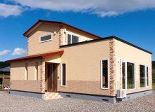 景色を一望できる家
